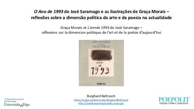 O Ano de 1993 de José Saramago e as ilustrações de Graça Morais – reflexões sobre a dimensão política da arte e da poesia ...
