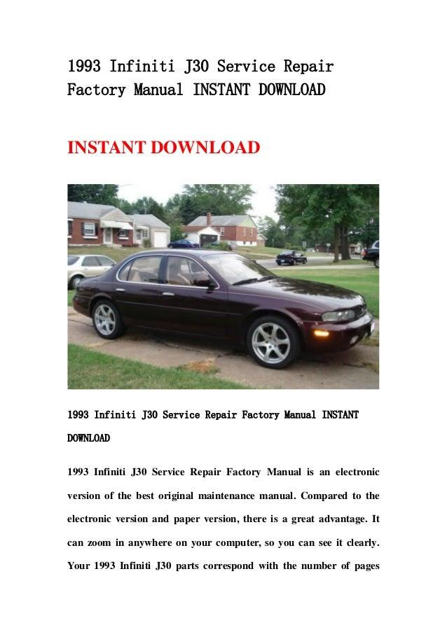 infiniti j30 owners manual how to and user guide instructions u2022 rh taxibermuda co 1993 Infiniti J30 1992 Infiniti J30