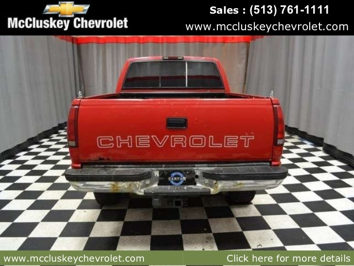 Mccluskey Chevrolet Kings Auto Mall >> Used 1994 Chevrolet C/K 2500 Pickup Truck at Cincinnati & Hamilton, O…