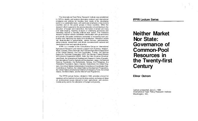1994 ostrom neither_market_nor_state_governance_of_cpr