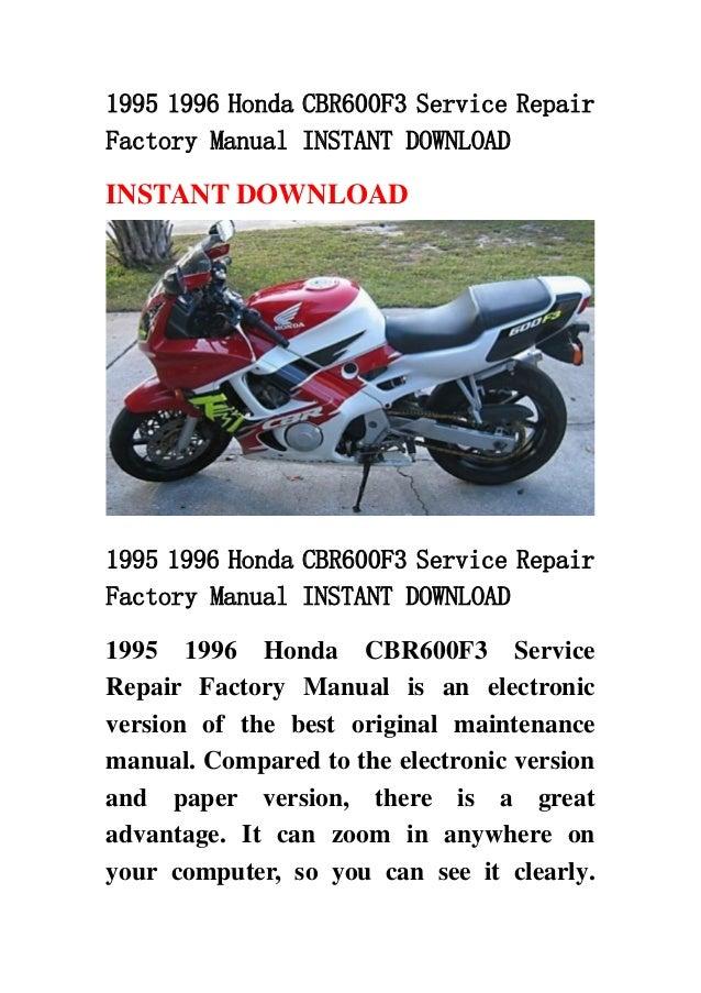 1995 1996 Honda Cbr600f3 Service Repairfactory Manual Instant Downloadinstant Download1995 Rep: 1997 Honda Cbr 600 F3 Wiring Diagram At Jornalmilenio.com