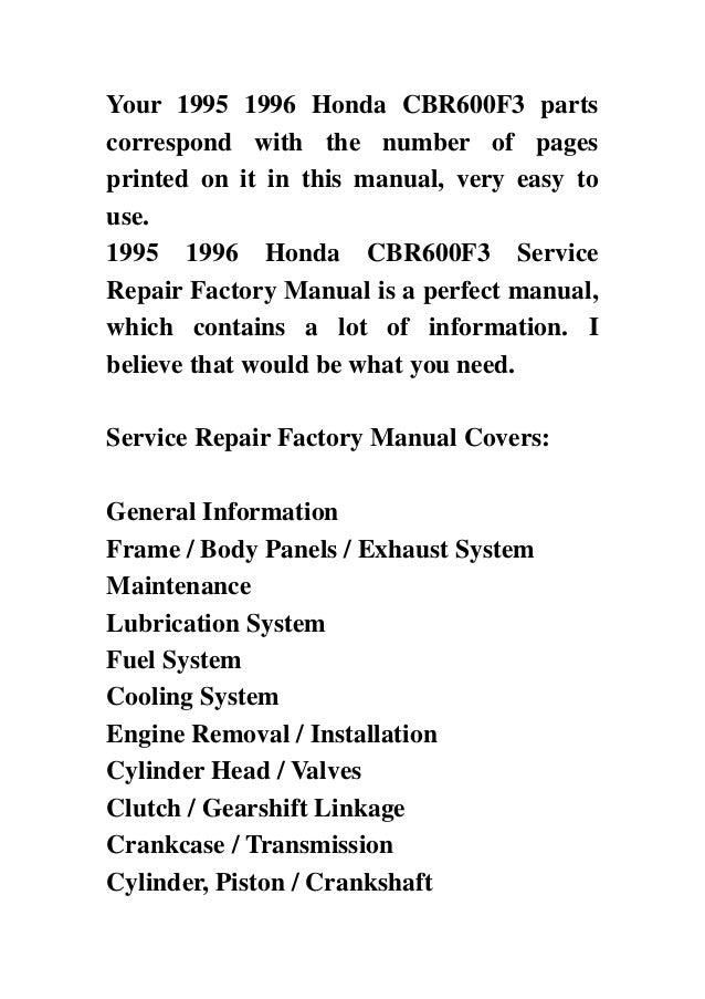 Honda f3 repair manual