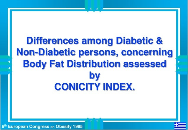 Differences among Diabetic &      Non-Diabetic persons, concerning       Body Fat Distribution assessed                   ...