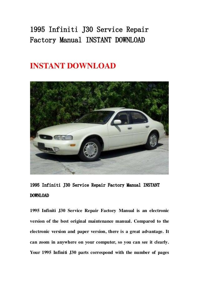 1995 infiniti j30 service repair factory manual instant download rh slideshare net infiniti j30 repair manual infiniti j30 service manual