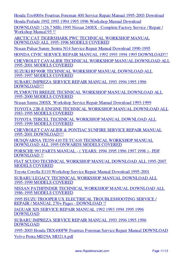 Md21a manual array 1995 volvo 960 service repair manual 95 rh slideshare net fandeluxe Image collections