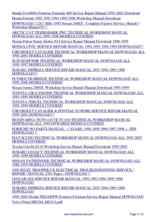 Md21a manual array 1995 volvo 960 service repair manual 95 rh slideshare net fandeluxe Gallery