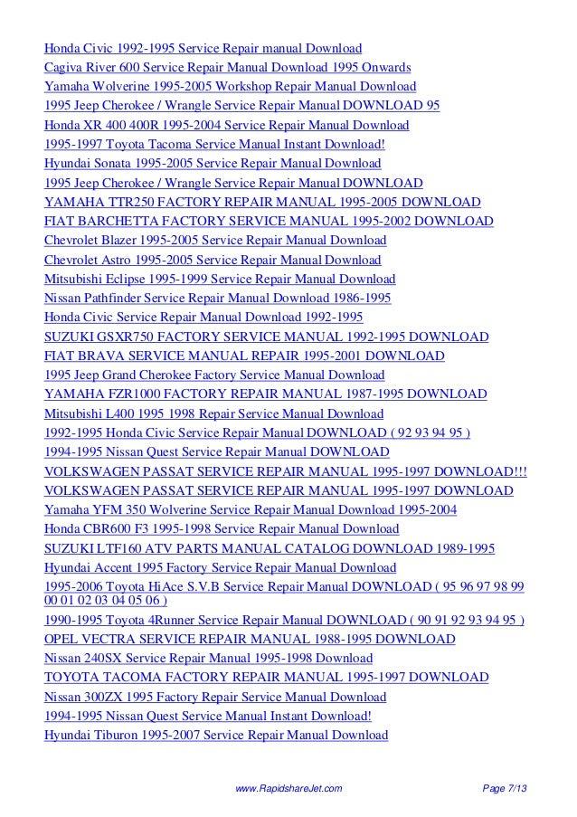 1995 volvo 960 service repair manual 95 rh slideshare net Service Station Parts Manual