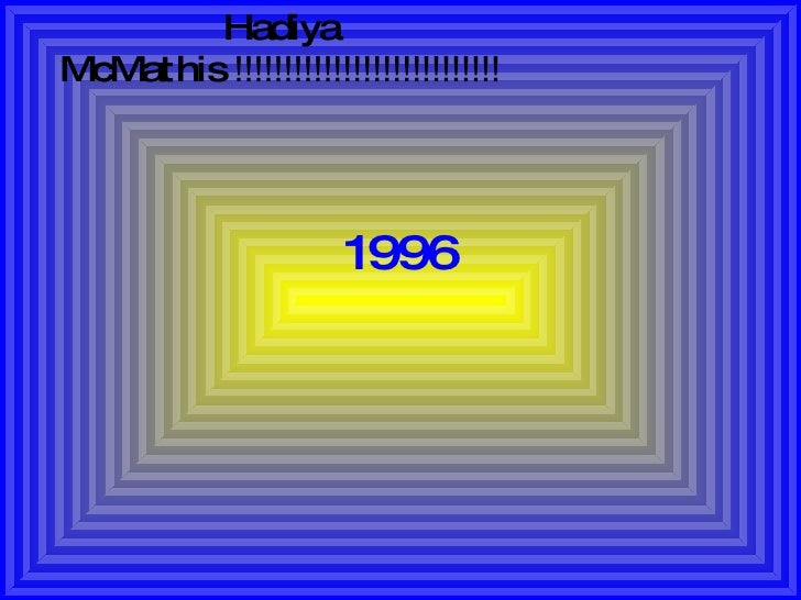 1996 Hadiya McMathis  !!!!!!!!!!!!!!!!!!!!!!!!!!!