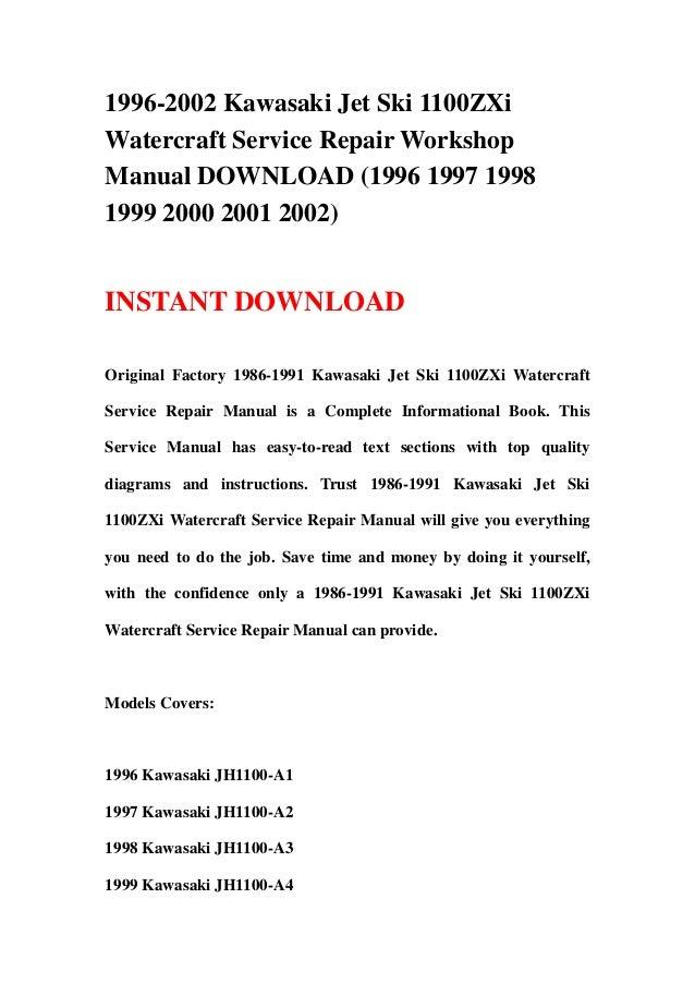1996 2002 kawasaki jet ski 1100 z xi watercraft service repair worksh rh slideshare net 2004 honda aquatrax service manual 2002 honda aquatrax f-12x owners manual