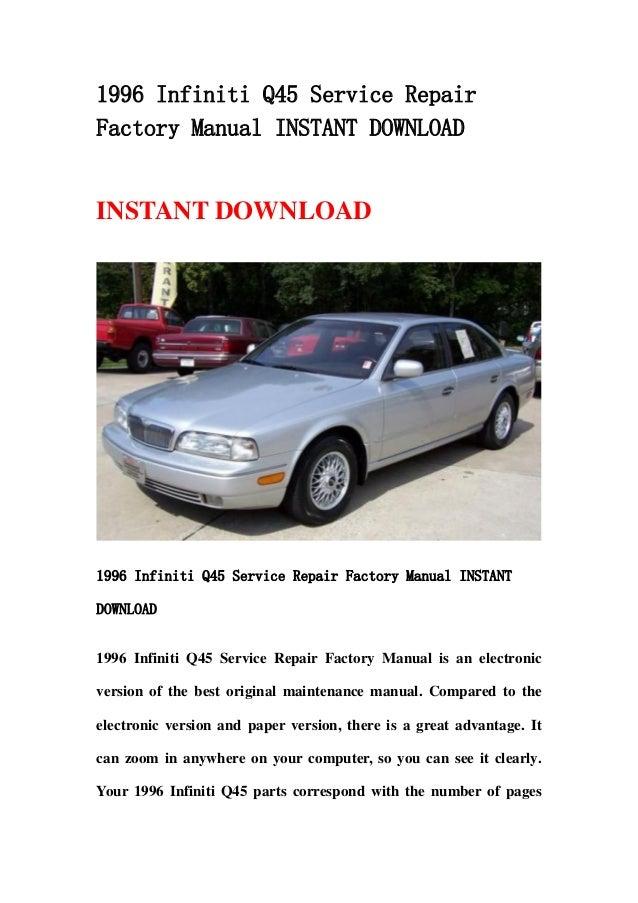 1996 infiniti q45 service repair factory manual instant download rh slideshare net Infiniti Q60 Manual Transmission infiniti q45 manual transmission swap
