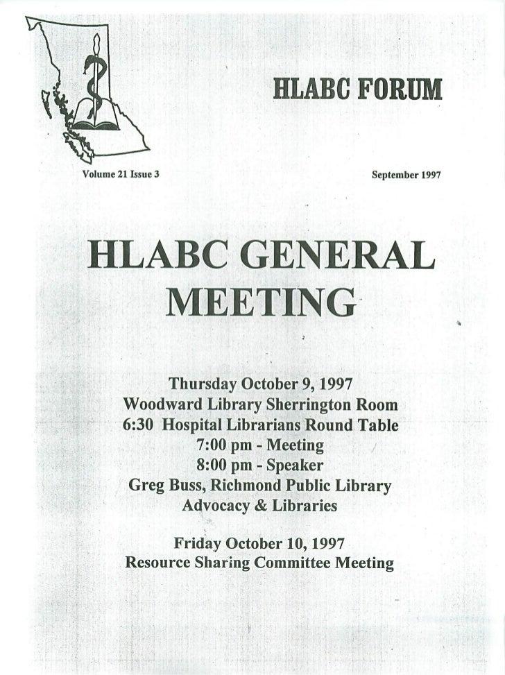 HLABC Forum: September 1997