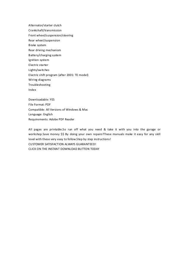 1997 2004 honda trx250 te tm recon and fourtrax service repair manual instant download 2 638?cb=1367178281 1997 2004 honda trx250 te tm recon and fourtrax service repair manual,Wiring Diagram Honda Recon 250 2003