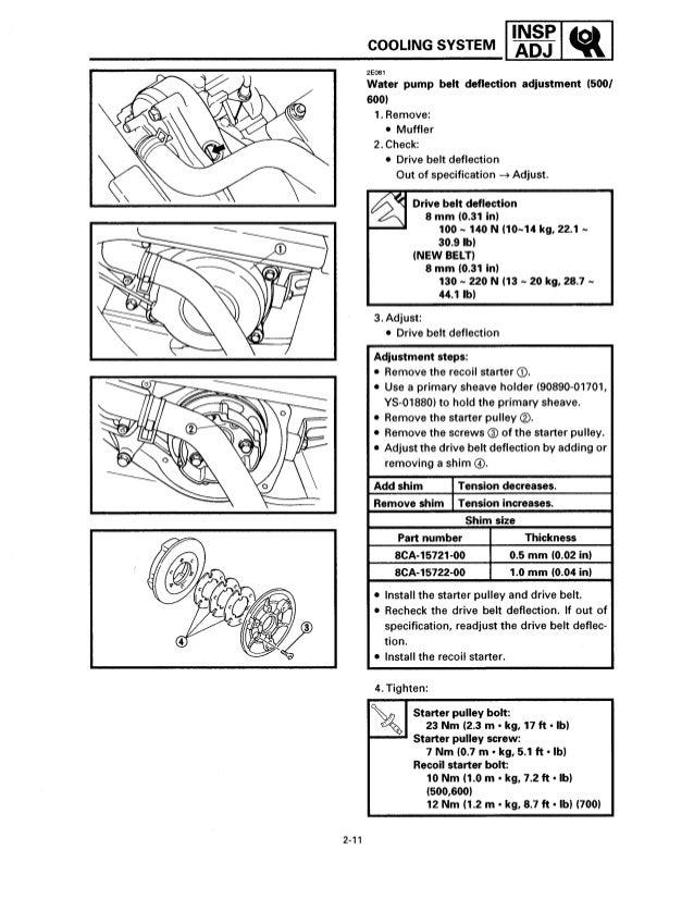 1997 2004 yamaha venture vt700 snowmobile service repair