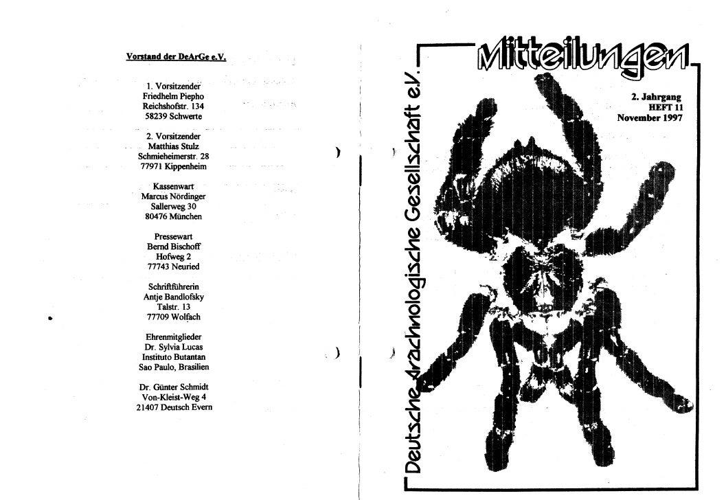 DeArGe Mitteilungen 11/1997