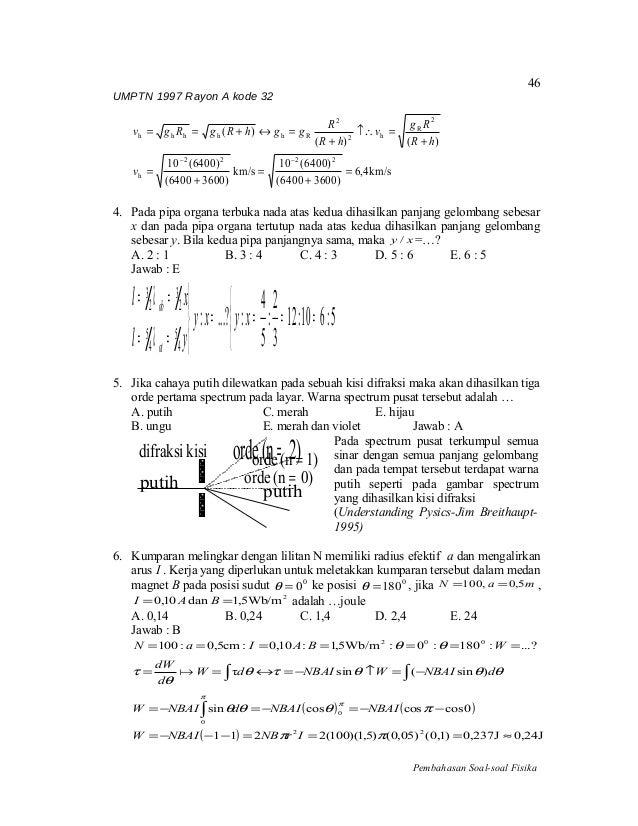 Umptn Fisika 1997 Rayon A Kode 32