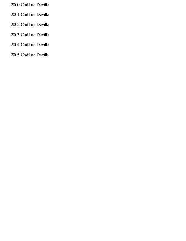 1997 cadillac deville repair manual online rh slideshare net Cadillac DeVille Wiring-Diagram Cadillac DeVille Wiring-Diagram