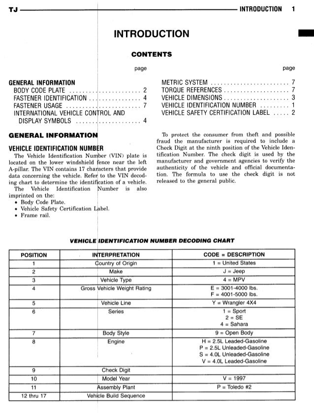 1997 jeep wrangler service manual free download