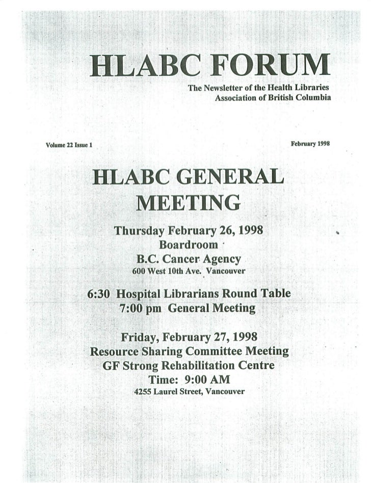 HLABC Forum: February 1998