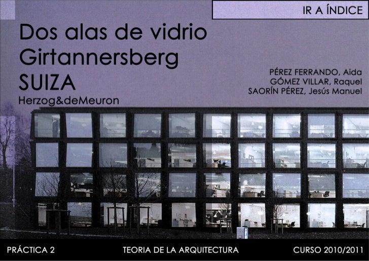 1998 2001 - herzog&demeuron - dos alas de vidrio