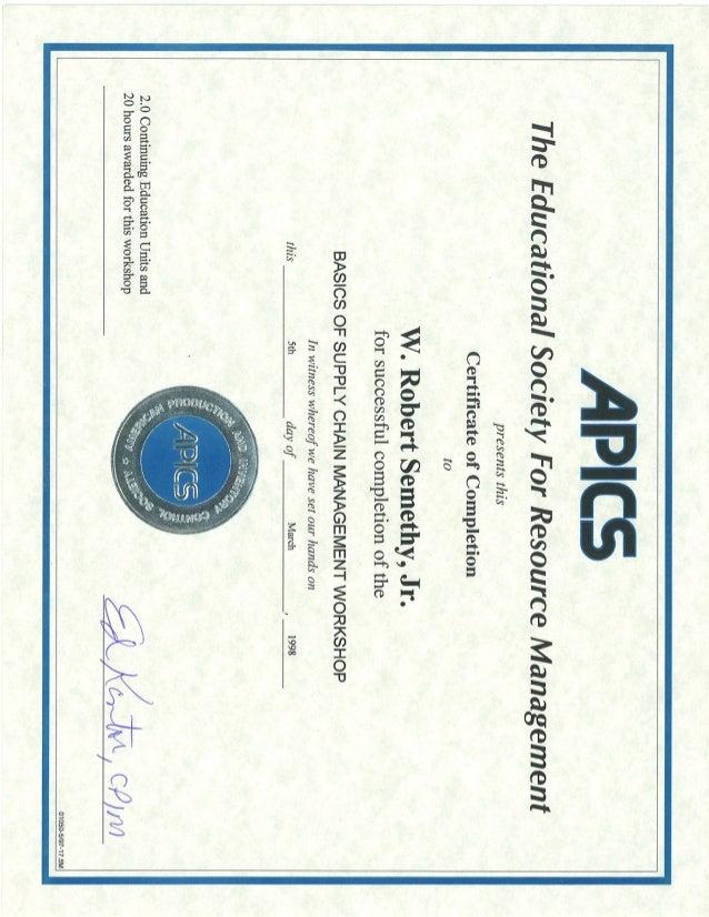 19980305 Apics Basics Of Supply Chain Management