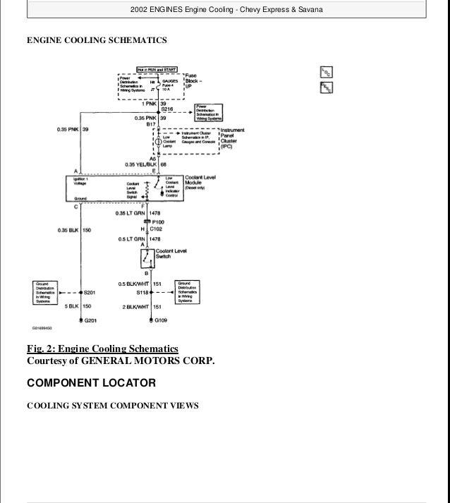 1998 gmc savana service repair manual 2 engine cooling schematics