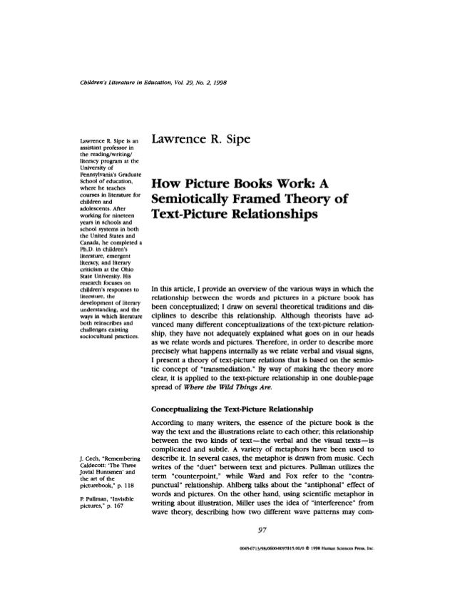 1998 how picture books work a semiotically framed theory of text-pict…