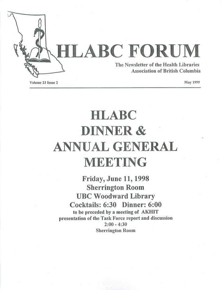HLABC Forum: May 1999
