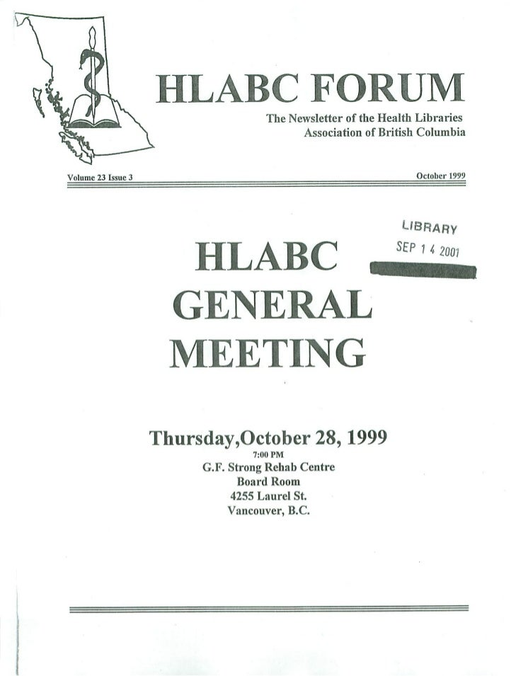 HLABC Forum: October 1999