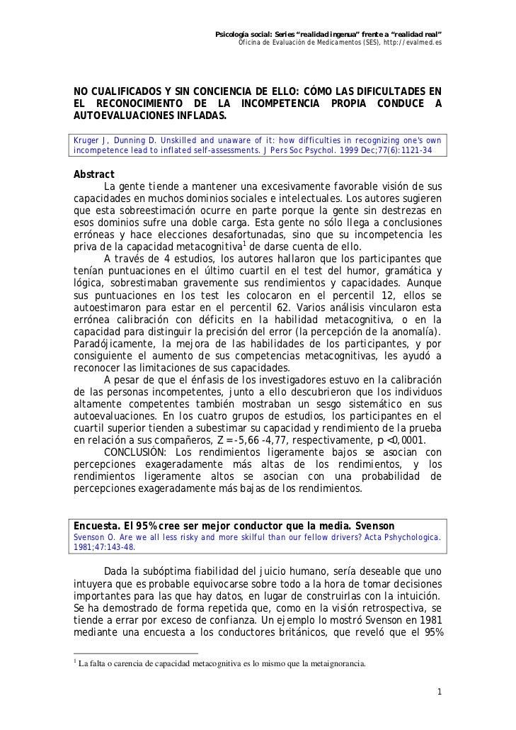"""Psicología social: Series """"realidad ingenua"""" frente a """"realidad real""""                                                 Ofic..."""