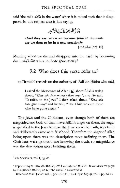 The Spiritual Cure, An Explanation To Surah Al Fatihah,