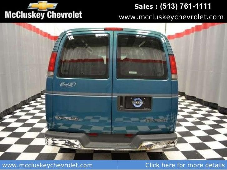 Mccluskey Chevrolet Kings Auto Mall >> Used 1999 Chevrolet Express Van Conversion By Mark 3 Van ...