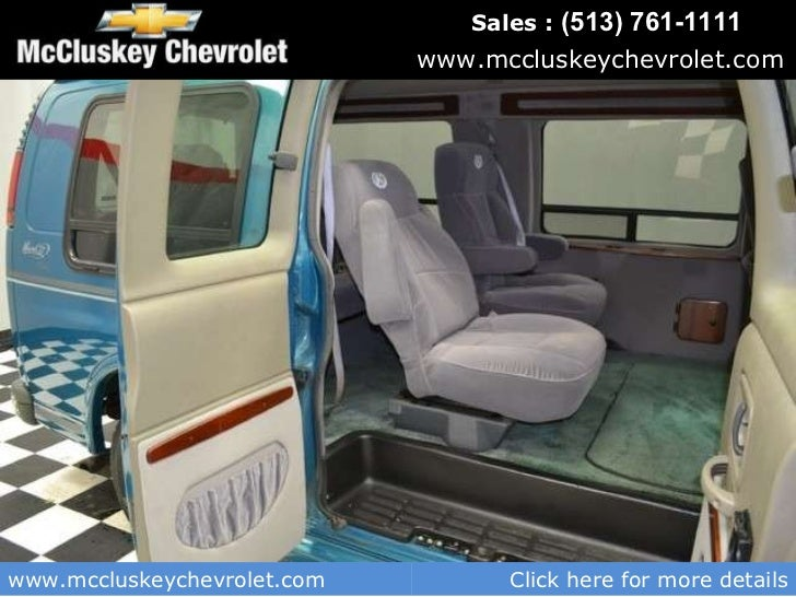Used 1999 Chevrolet Express Van Conversion By Mark 3 At Your Chevy Cincinnati Ohio Dealer