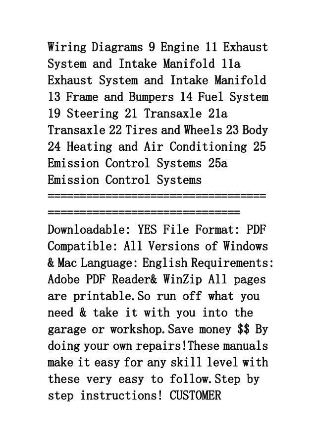 1999 Dodge Stratus Service Repair Factory Manual Instant