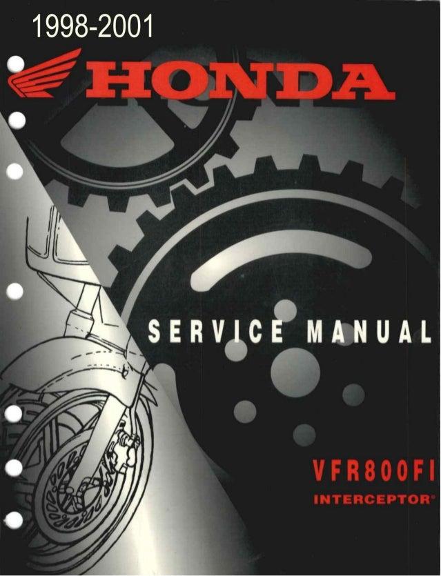 1999 Honda Vfr800 Fi Interceptor Service Repair Manual