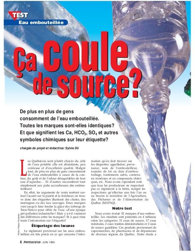 L es Québécois sont plutôt choyés du côté de l'eau potable: elle est abondante, peu coûteuse et d'excellente qualité. Malg...