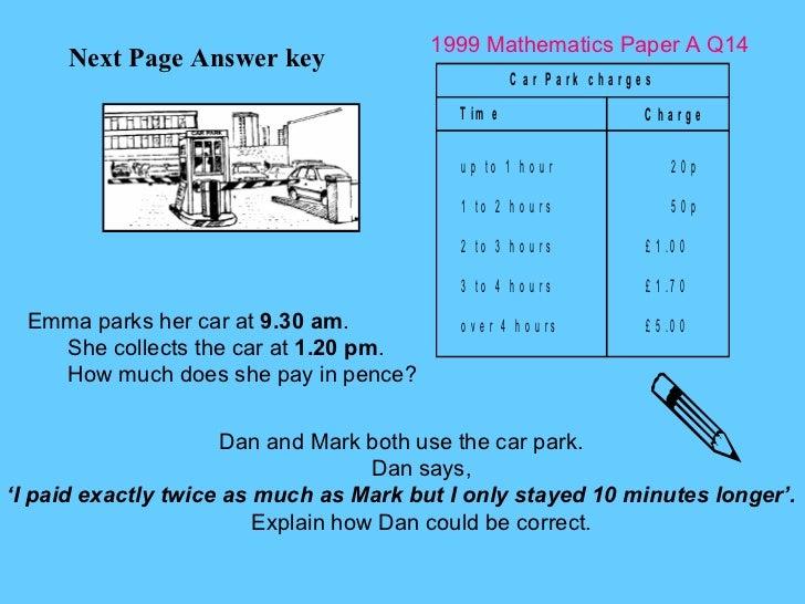 Interactive Voting - 1999 Maths Papera