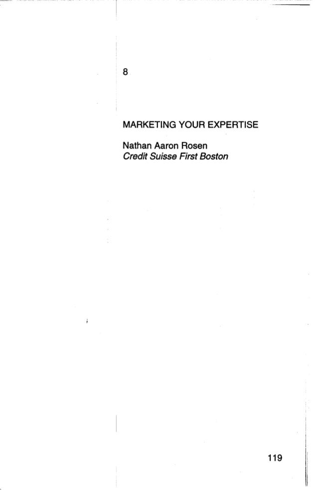 Marketing Your Expertise