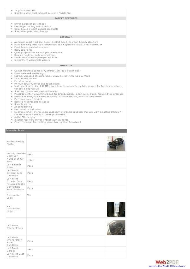 1999 Plymouth Prowler Virtual Brochure