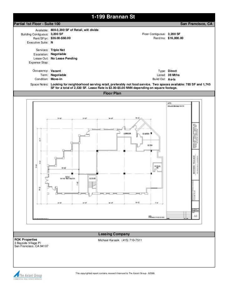 1-199 Brannan StPartial 1st Floor - Suite 100                                                                             ...