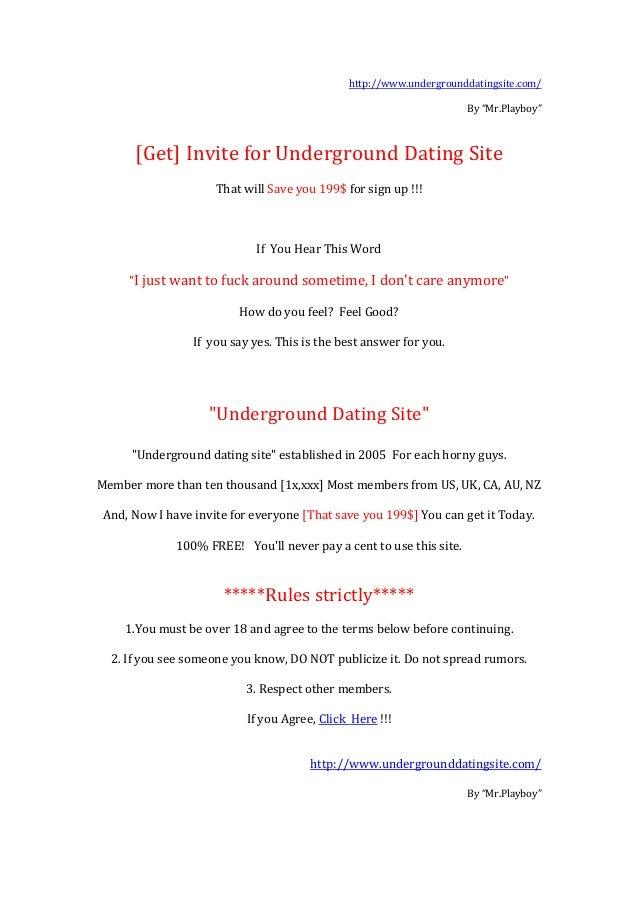 Underground dating