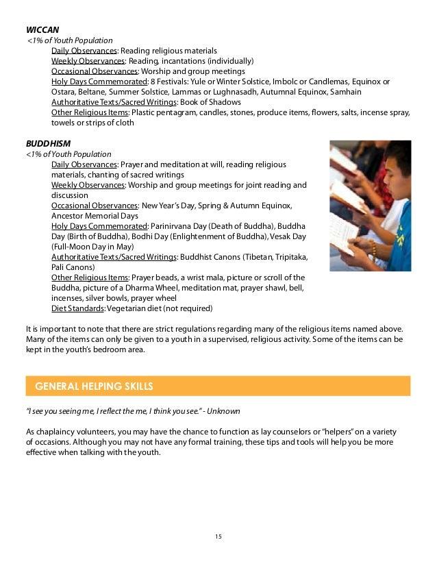 chaplaincy volunteer training manual 2015