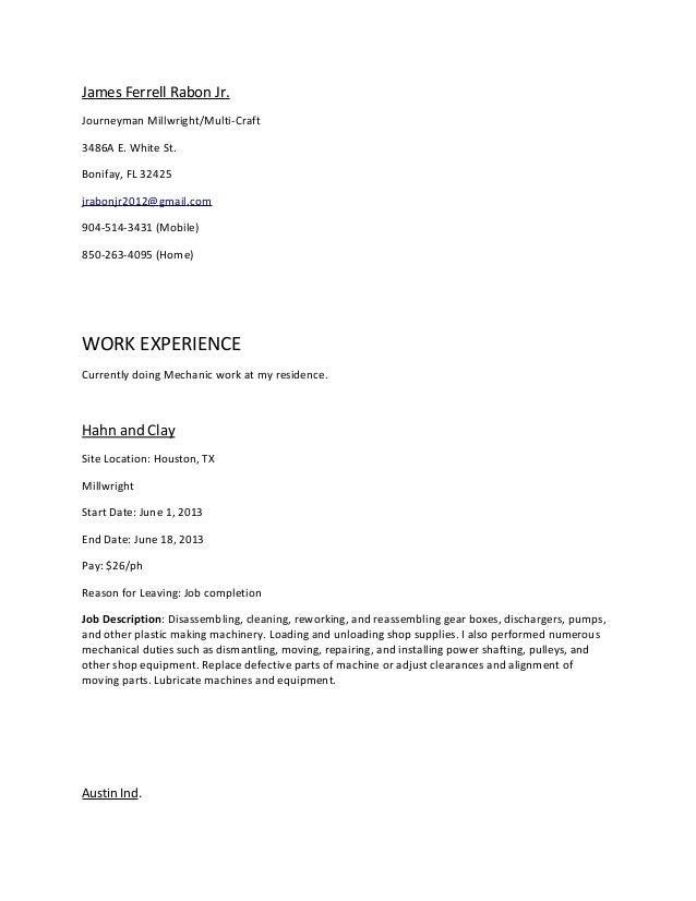 2014 Resume For James Rabon Jr