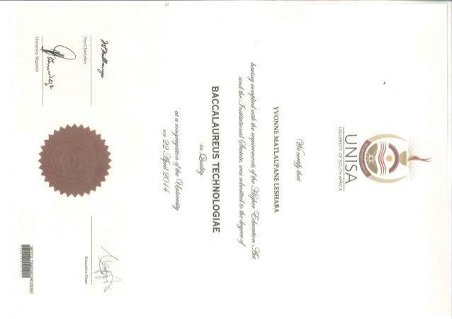 BTech Certificate