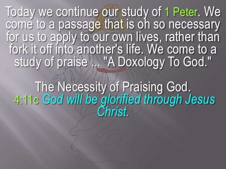 Today we continue our study of 1 Peter. We come to a passage that is oh so necessary for us to apply to our own lives, rat...