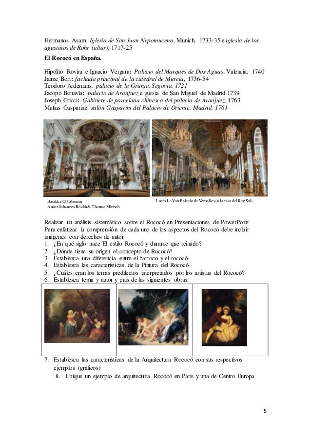 5 Hermanos Asam: Iglesia de San Juan Nepomuceno, Munich, 1733-35 e iglesia de los agustinos de Rohr (altar), 1717-25 El Ro...