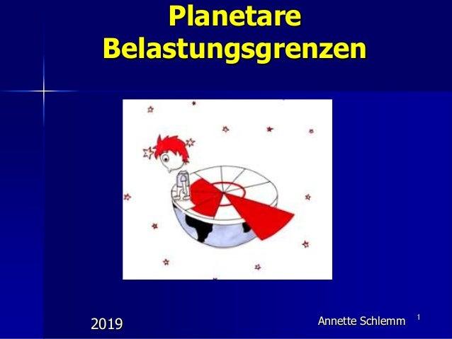 1 2019 Planetare Belastungsgrenzen Annette Schlemm