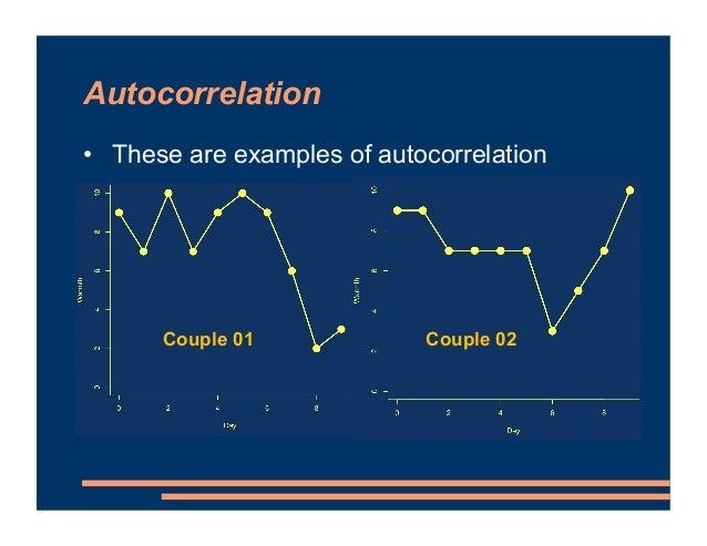Autocorrelation • These are examples of autocorrelation Couple 01 Couple 02