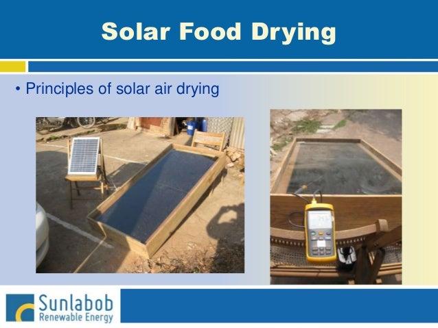 Solar Food Drying • Principles of solar air drying