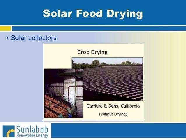 Solar Food Drying • Solar collectors