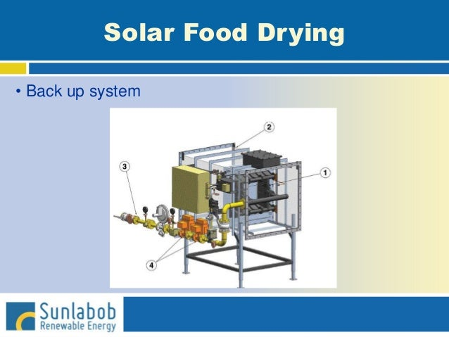 Solar Food Drying • Back up system